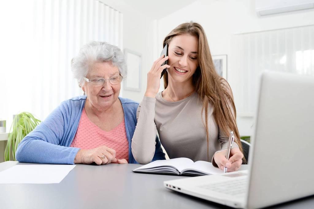 Aide administrative personnes âgées
